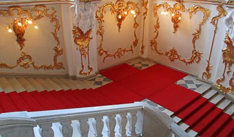 Пазл красная лестница
