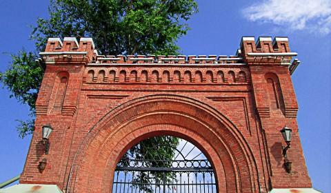 Пазл с воротами в музей