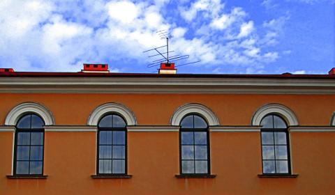 Пазл окна и небо