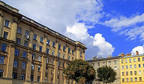 Пазл с деревьями на Петроградке