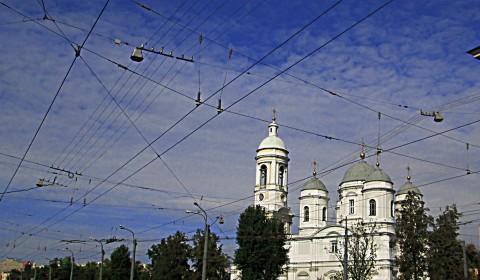 Пазл с проводами в небе
