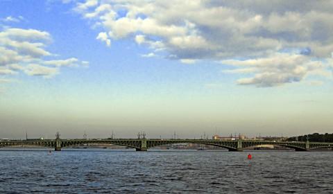 Пазл с Троицким мостом