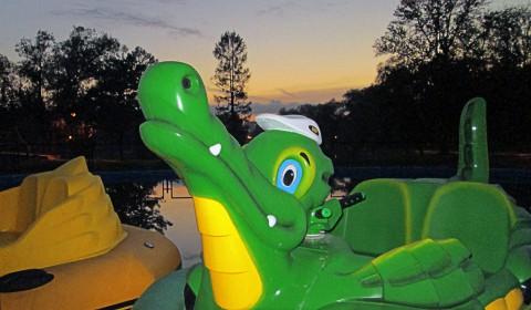 Пазл с зелёным крокодилом