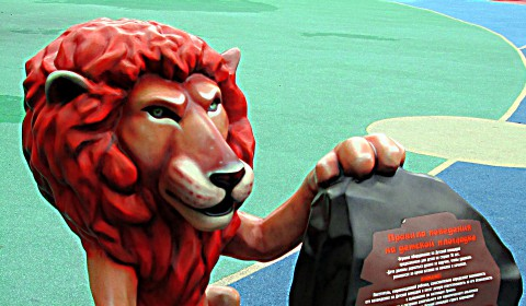 Пазл со львом