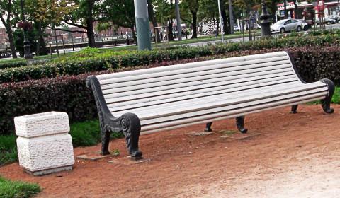 Пазл со скамейкой